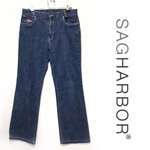 Sag Harbor Sport Women's Jeans w/Floral Embroidery